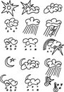 Free Weather Icons Royalty Free Stock Image - 10120686