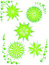 Free Abstract Flowered Background Green On White Royalty Free Stock Image - 10121556