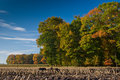 Free Landscape Of A Farmland With Colorful Autumn Trees Royalty Free Stock Image - 10121646