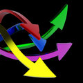 Free Colorful Arrows Royalty Free Stock Photography - 10124007