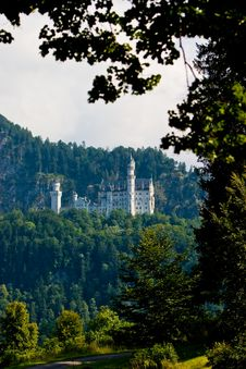 Free Castle Neuschwanstein In The Mountains Royalty Free Stock Photos - 10120028