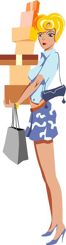 Free Shopping Girl Stock Photos - 10120653