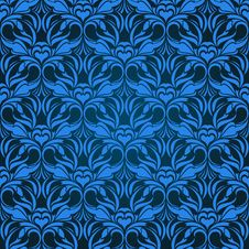 Free Blue Seamless Wallpaper Stock Photography - 10121132