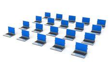 Laptop Network Stock Image