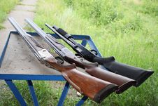 Free Three Smooth-bore Guns Stock Photography - 10121332
