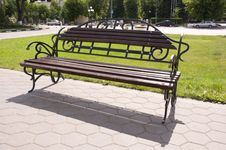 Free Bench In The Park Stock Photography - 10121982