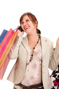 Free Young Woman With Shopping Bags Royalty Free Stock Photos - 10122008
