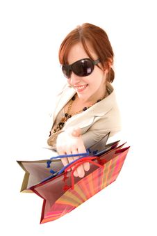 Free Young Woman With Shopping Bags Stock Photos - 10122013