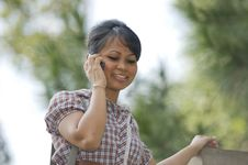 Free Chatting On The Phone Royalty Free Stock Photos - 10122688