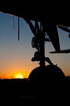 Free Sunset Plane Stock Photography - 10123262