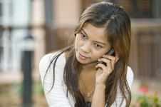 Free Talking On The Phone Stock Photography - 10123912
