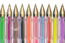 Free Color Ballpoint Pens Royalty Free Stock Photos - 10124888