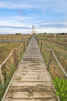 Free Lighthouse In Mediterranean Landscape Royalty Free Stock Image - 10125576