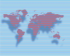 Free World Map Royalty Free Stock Photography - 10128297