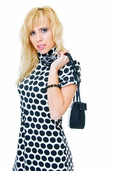 Free In Spotted Dress Stock Image - 10128581