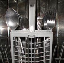 Free Cutlery Basket Stock Image - 10129121