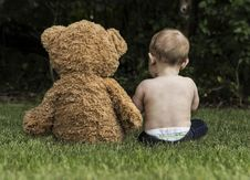 Free Child, Grass, Teddy Bear, Toddler Royalty Free Stock Images - 101225839