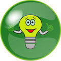 Free Button With Green Bulb Stock Photography - 10131652