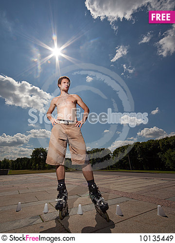 Free Rollerskater Royalty Free Stock Images - 10135449