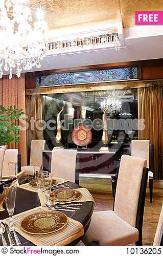 Free Dining Room Royalty Free Stock Photo - 10136205