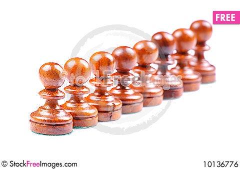 Chess pawns Stock Photo