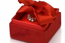 Free Gift Box With Ring Royalty Free Stock Photo - 10130525
