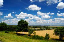Idyllic Summer Landscape Royalty Free Stock Image