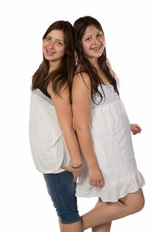 Free Twin Sisters Royalty Free Stock Photo - 10131015