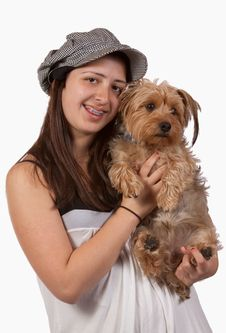 Free Girl And Her Dog Stock Photography - 10131042