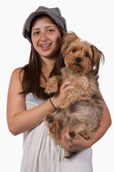 Free Girl With Her Pet Dog Royalty Free Stock Images - 10131059