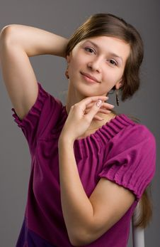 Portrait Of Charming Brunette Stock Photography
