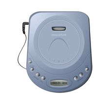 Free Portable CD Player - Blue Royalty Free Stock Images - 10131199