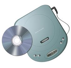 Free Portable CD Player - Green Stock Photo - 10131210