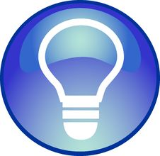 Free Blue  Bulb Button Royalty Free Stock Images - 10131659