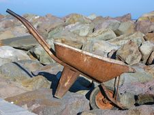 Old Wheel Barrow Royalty Free Stock Images
