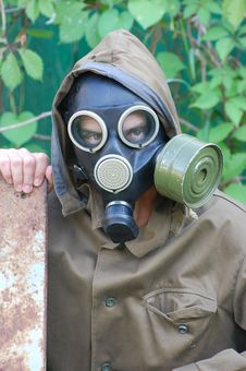 Free Person In Gas Mask Stock Photo - 10132380