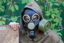 Free Person In Gas Mask Royalty Free Stock Photo - 10132395