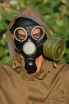 Free Person In Gas Mask Stock Image - 10132411