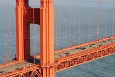 A Detail Of Golden Gate Bridge Royalty Free Stock Photo