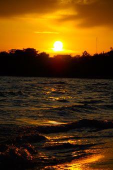 Free Orange Sunset Royalty Free Stock Images - 10132509