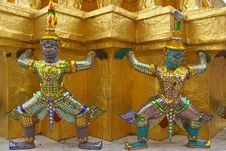Decor Element Of Wat Phra Kaeo, Bangkok, Thailand