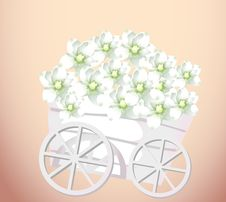 Free Pushcart And Flower Royalty Free Stock Image - 10132526