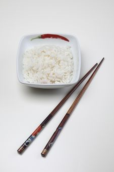 Free Rice In Bowl Royalty Free Stock Images - 10132779
