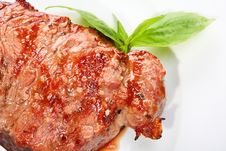Free Juicy Beef Steak Royalty Free Stock Photography - 10133207