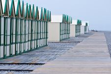 Free Row Of Beach Huts Royalty Free Stock Image - 10133726