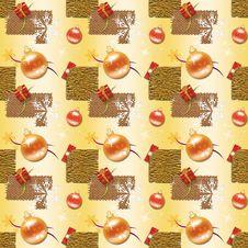 Free Gold Christmas Wrapping Paper Royalty Free Stock Images - 10133869