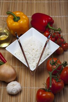 Free Rice In Bowl Royalty Free Stock Images - 10134219