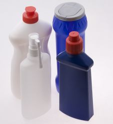 Four Plastic Bottles Royalty Free Stock Photography