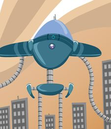 Free Big Robot Royalty Free Stock Images - 10135279