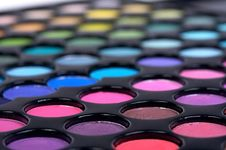 Free Closed-up Professional Make-up Shadows Stock Images - 10135564